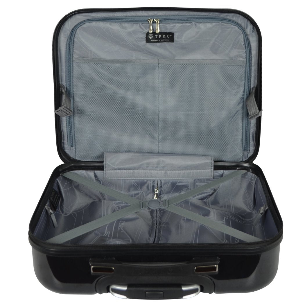 Bright Wheeling Briefcase Tablet Compartment Lightweight Business Type Briefcase Spinner Wheels Mobility Double Lock System