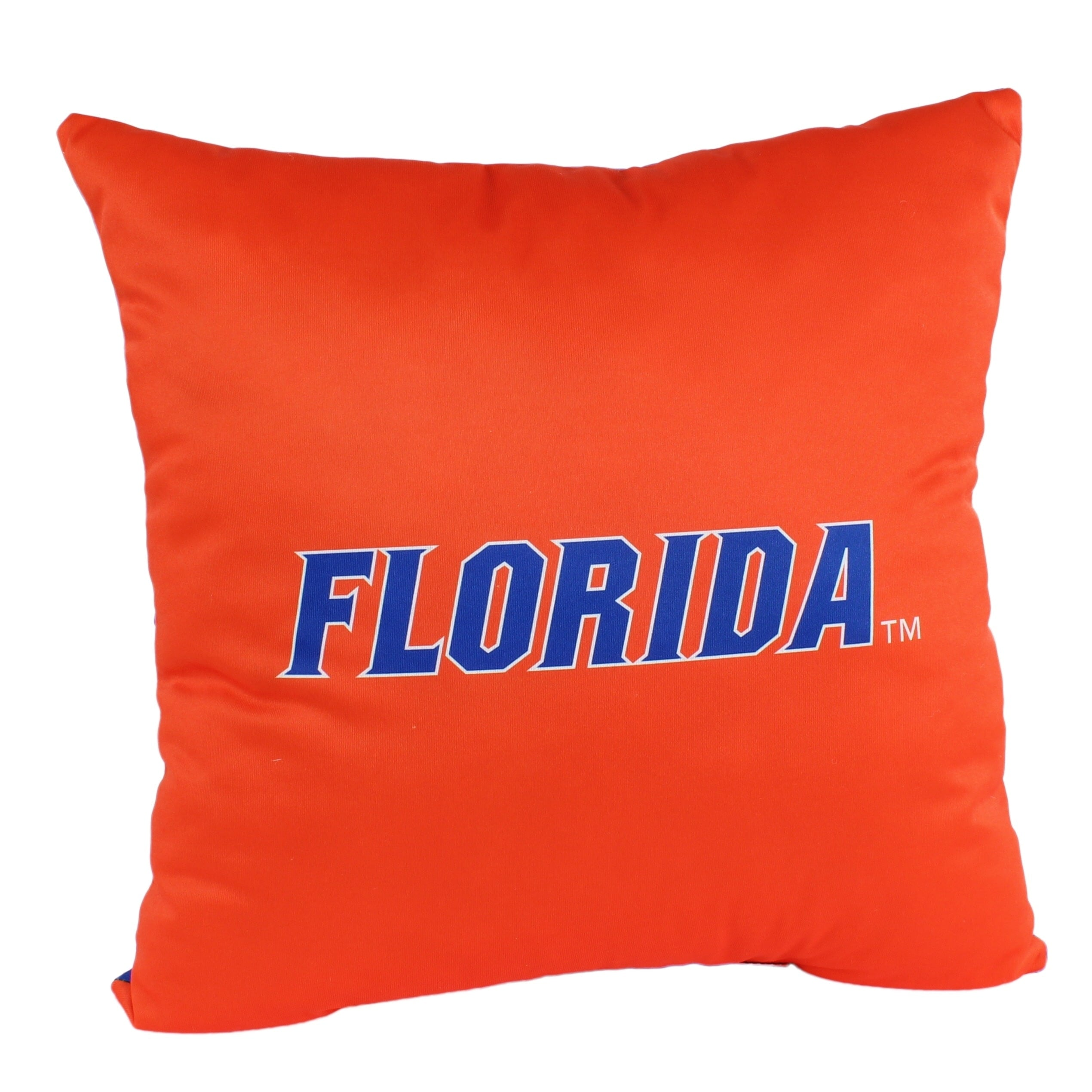 Florida Gators 16 Inch Decorative Throw Pillow Multi Color Sports Traditional Polyester One Single Reversible - Diamond Home USA