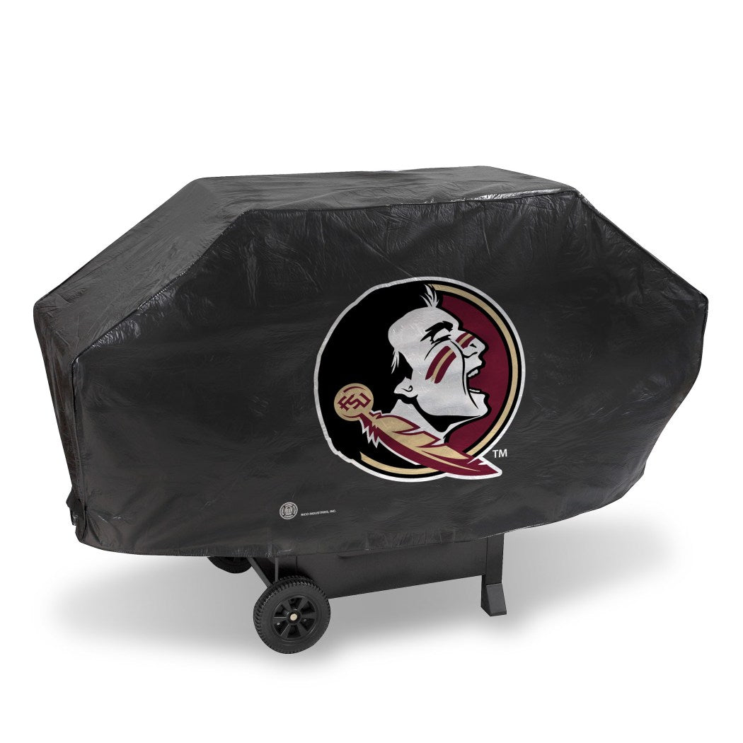 Seminoles Gas Grill Cover 68 Inch Football Themed Bbq Cover Large Durable Patio Barbecue Cover Team Logo Fan Merchandise Athletic Team - Diamond Home USA