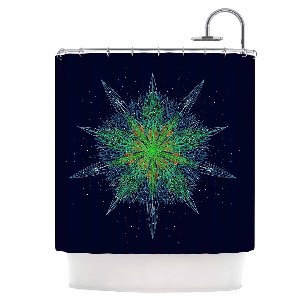 "Frederic Levy Hadida "" Ursinus"" Shower Curtain Blue Polyester - Diamond Home USA"