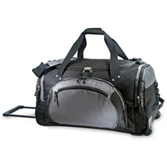 Sports Pattern Oversize Carry Rolling Upright Duffle Bag Sport Adventure Theme Duffel Large Travel Wheeling Duffel Bag