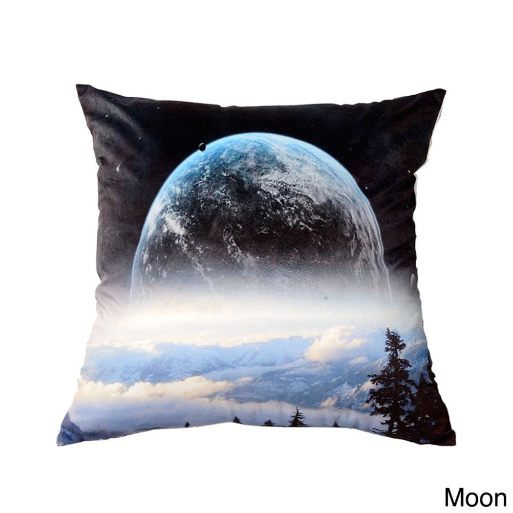 Astronaut Throw Pillow Spaceman Character Square Shaped Galaxy Space Themed Cushion Universe Astro Naut Indoor Use Polyester