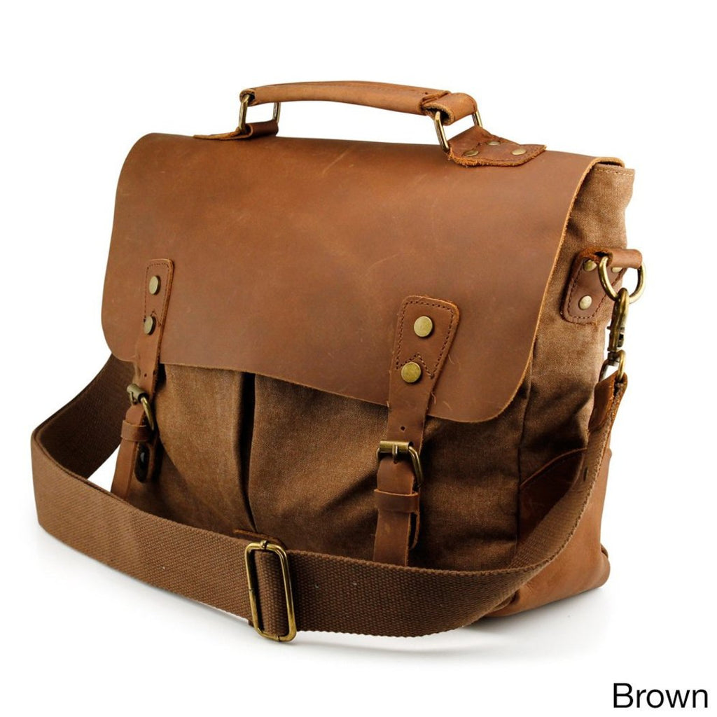 Messenger Shoulder Bag Adjustable Strap Synthetic Leather