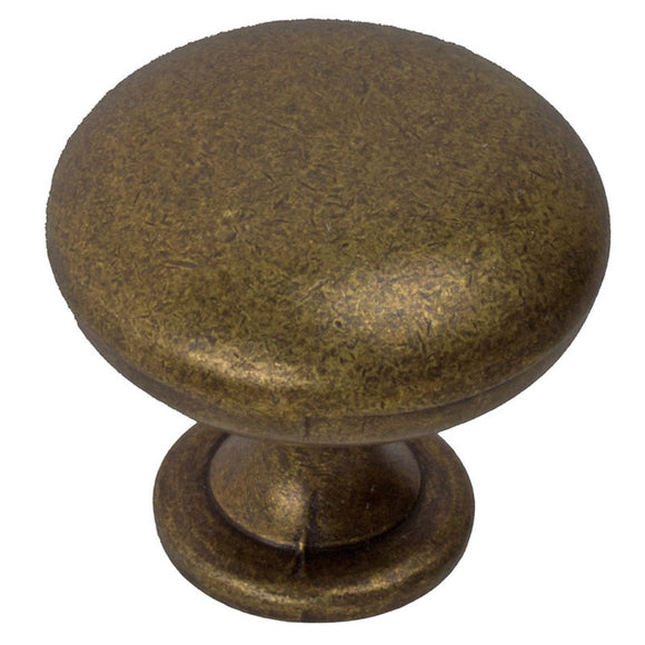 1.125-inch Antique Brass Cabinet Knobs (Case Of 25) Modern Contemporary Finish - Diamond Home USA