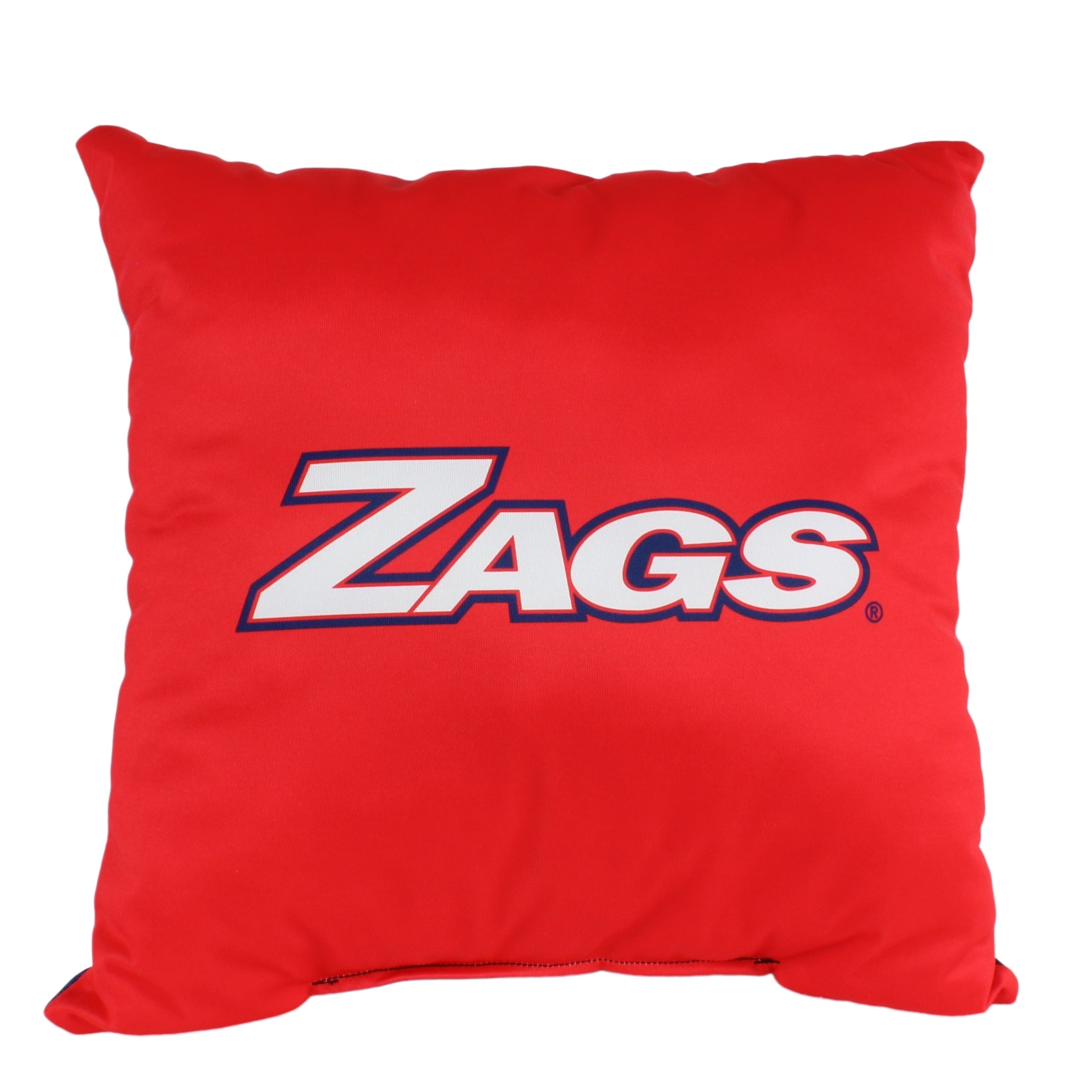 Gonzaga Bulldogs 16 Inch Decorative Throw Pillow Multi Color Sports Traditional Polyester One Single Reversible - Diamond Home USA