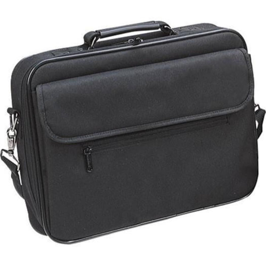 Black Professor Briefcase Polyester Business Laptop Lightweight Solid Pattern - Diamond Home USA