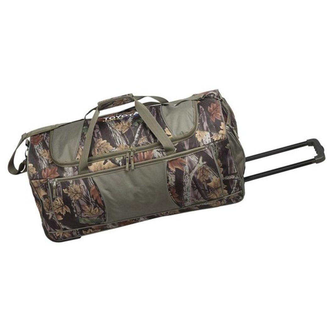 Camo Color Deluxe Rolling Duffel Bag 30 Inch Polyester Compartment - Diamond Home USA