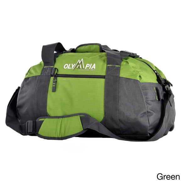 Sport Duffel Bag Polyester Compartment Adjustable Strap