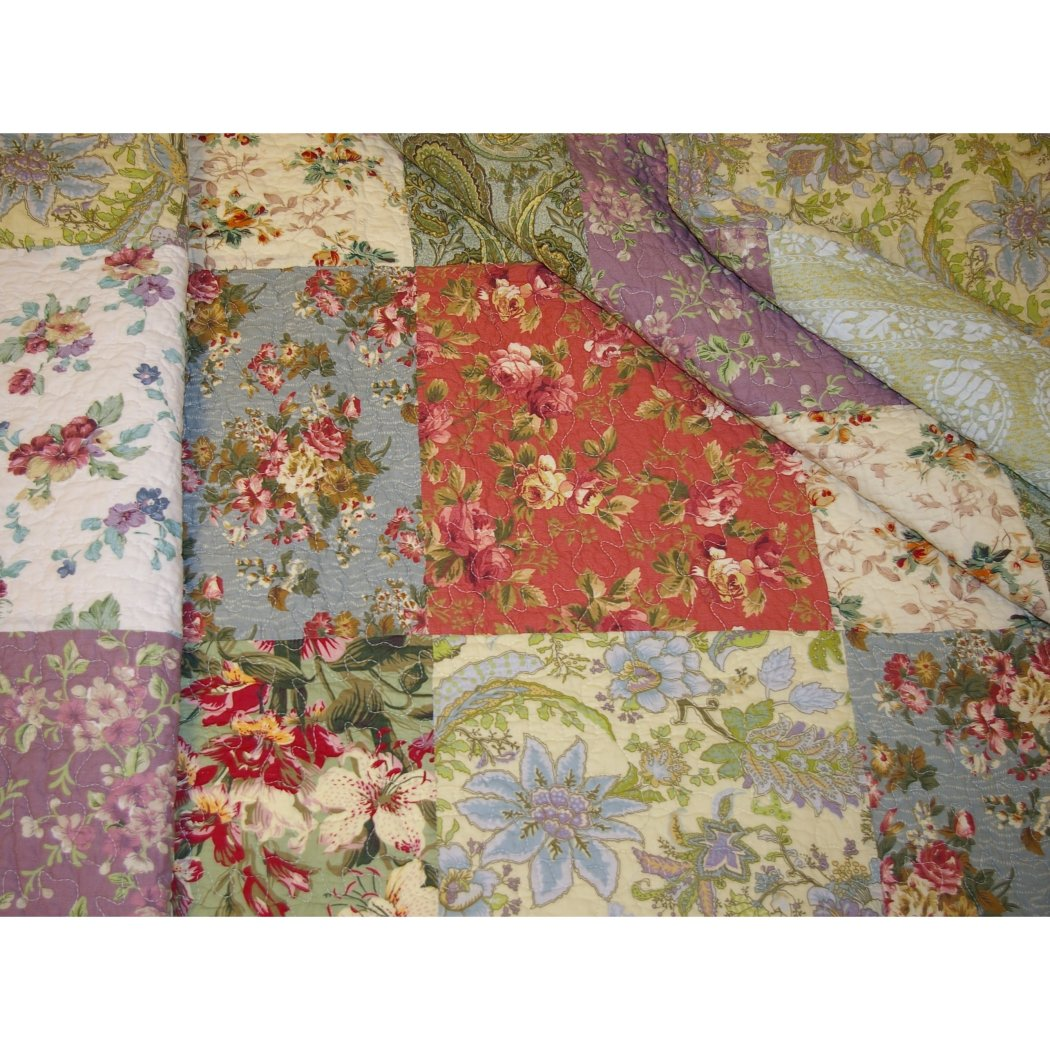 Floral Patchwork Bedspreads Bedding Set Cotton Oversized Queen