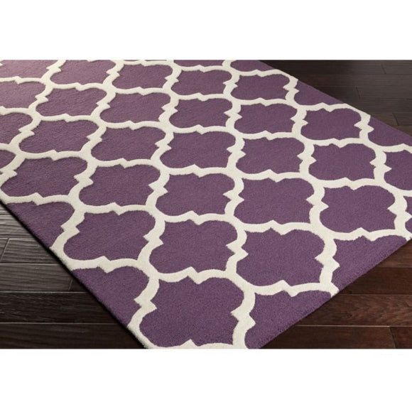 Crafted Geometric Pattern Area Rug (2' x 3') Gorgeous Trellis Texture Design Persian Luxurious Comfort Floor Carpet