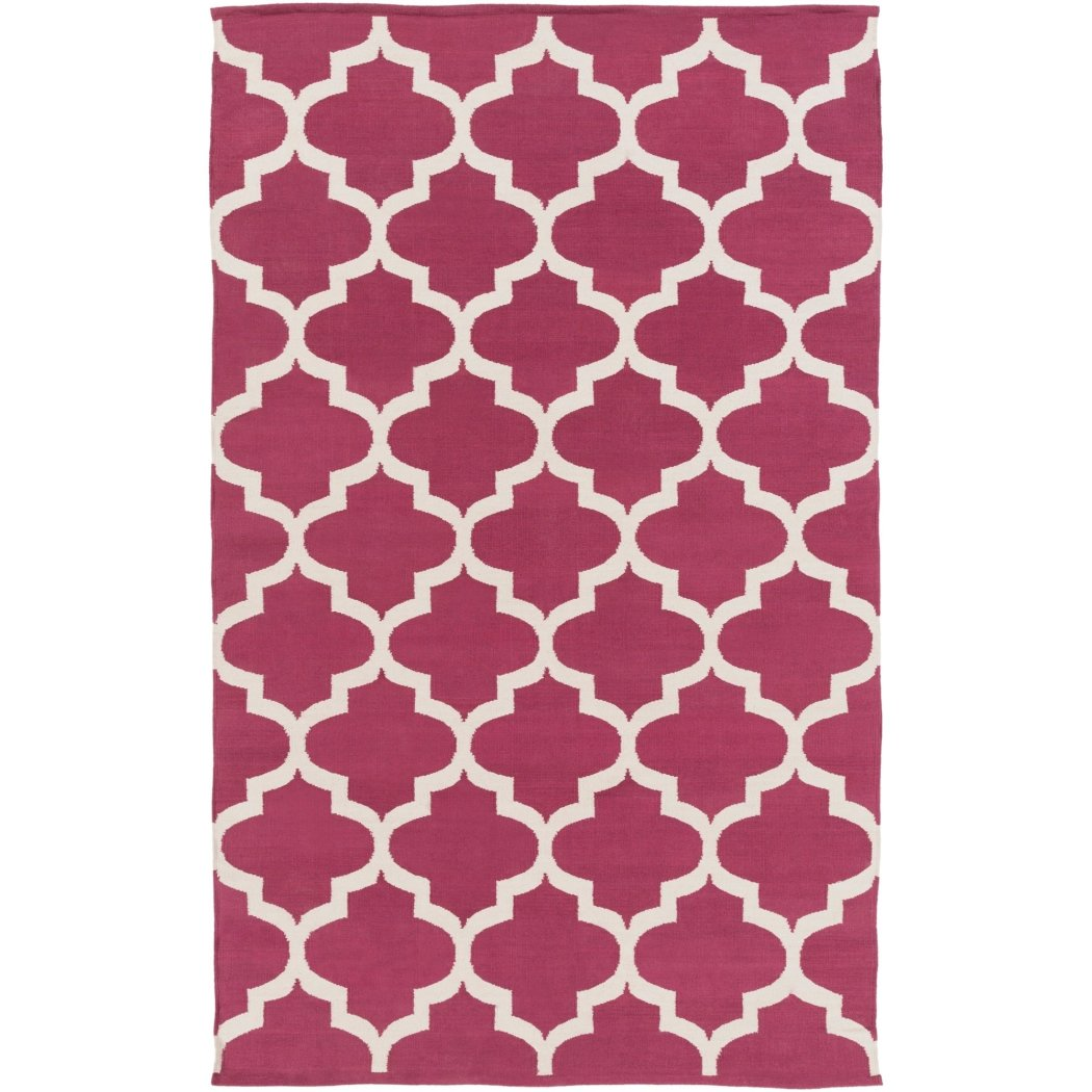 Crafted Geometric Pattern Area Rug (4' x 6') Gorgeous Trellis Texture Design Persian Luxurious Comfort Floor Carpet