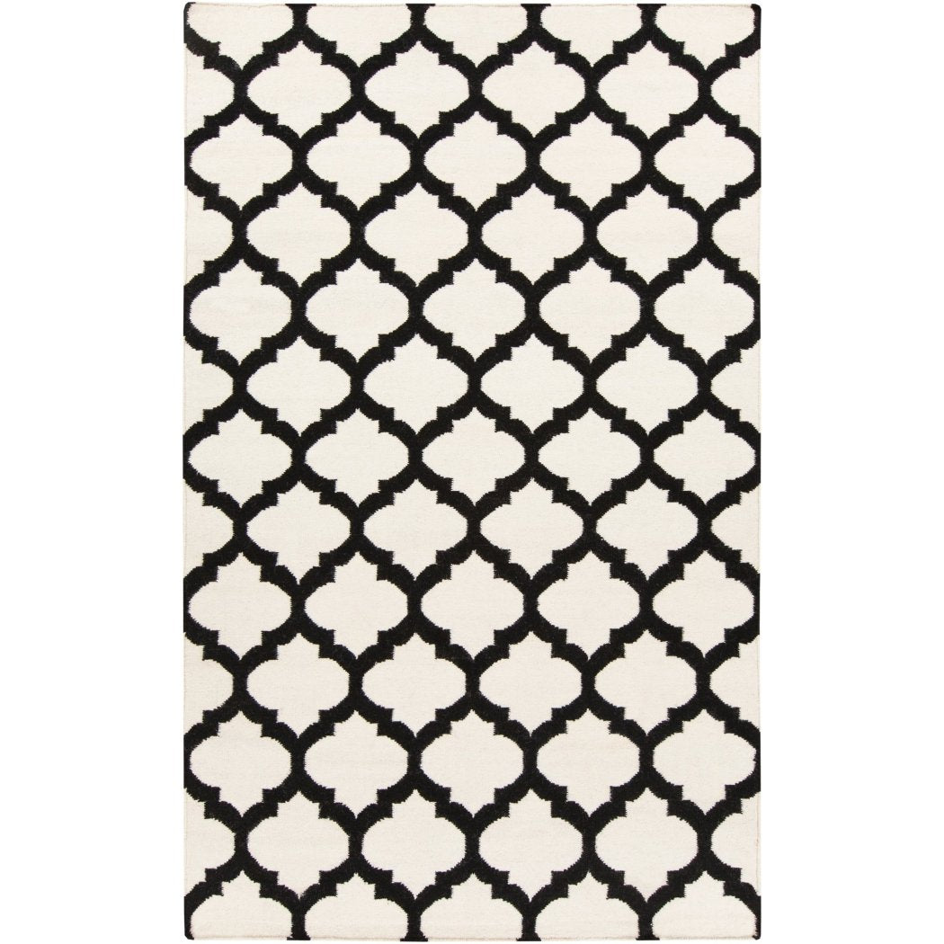 3'6 x 5'6 Trellis Pattern Area Rug Vibrant Bright Geometric Contemporary Medallion Themed Mat Bedroom Living Room Hand Woven Soft