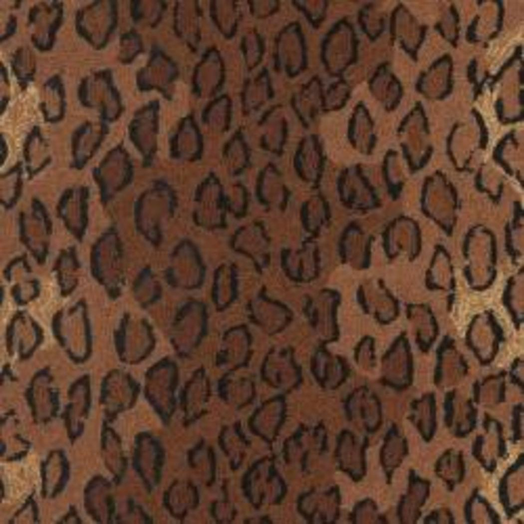 "2'9""x4'9"" Brown Black Leopard Dots Printed Runner Rug Indoor Graphical Pattern Living Room Rectangle Carpet Africa Themed Soft Wool Wild Animals - Diamond Home USA"