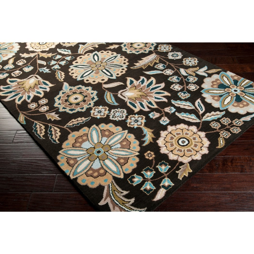 3' x 12' Hand Tufted Knotted Lily Pad Floral Runner Rug Wool Handmade Contemporary Elegant Classic Luxurious Charm Flower Pattern Indoor