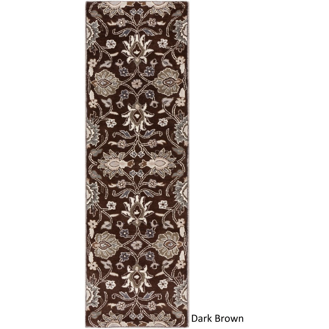 3' x 12' Hand Tufted Floral Paisley Patchway Wool Runner Rug Super Soft Sophisticated Hippy Classic Traditional Transitional Indoor