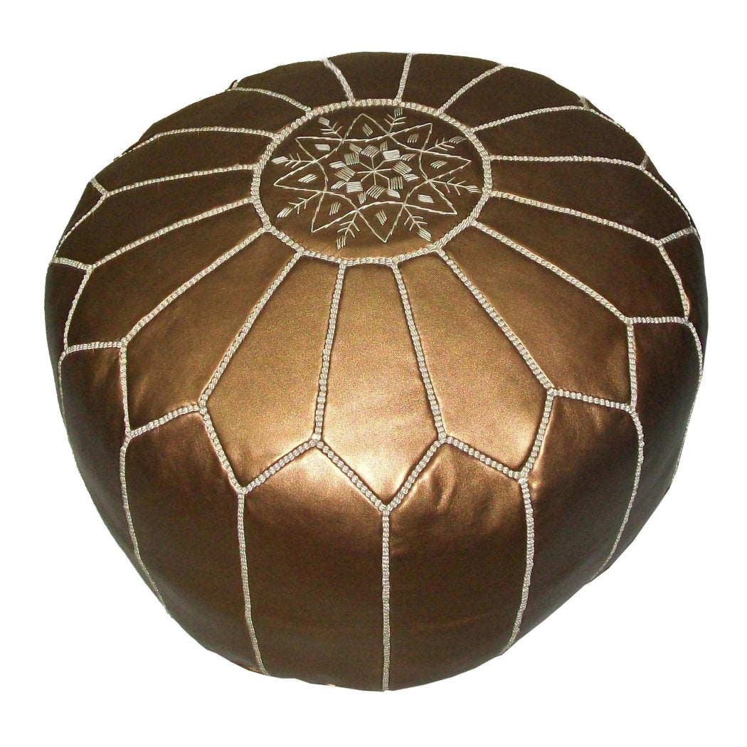 Moroccan Pouf Authentic Hand crafted By Moroccan Artisans Fair trade Leather Worldstock Moroccan Leather Pouf Moroccan Floor Pillows