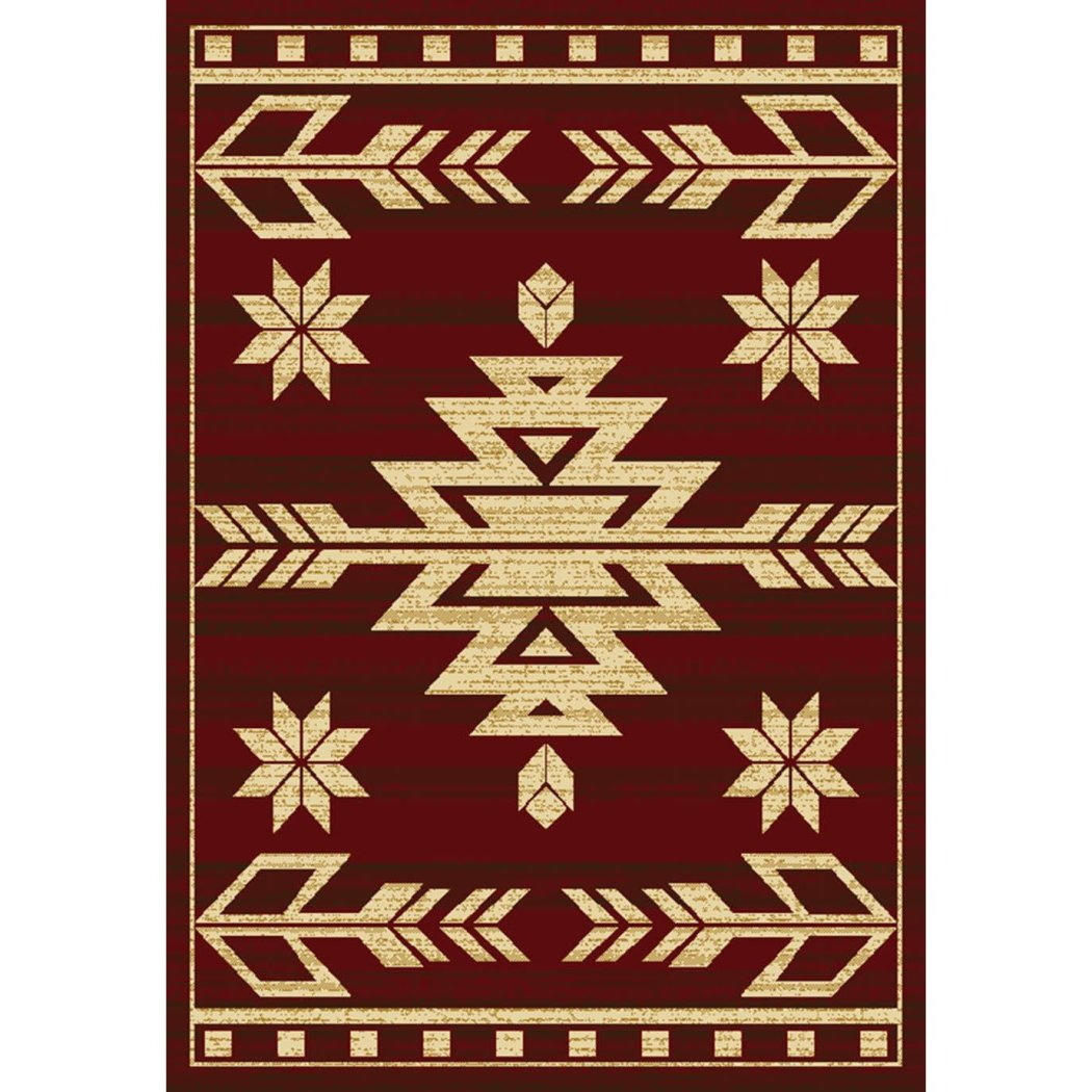 "1'10""x3' Aztec Tribal Diamonds Printed Accent Rug Indoor Graphical Pattern Living Room Rectangle Carpet Graphic Art Themed Vibrant"