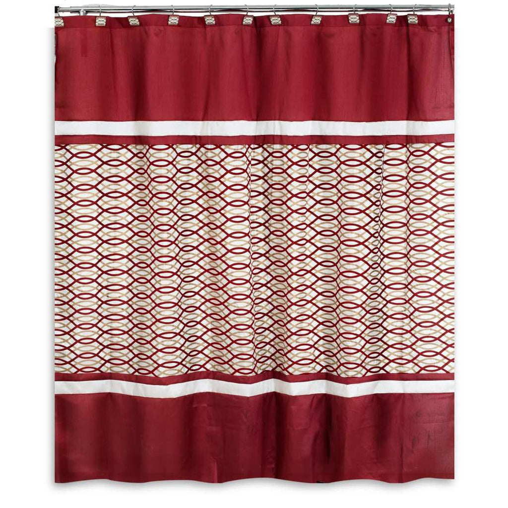 Geometric Pattern Shower Curtain Polyester Abstract Graphical Themed Detailed Spiral Stripe Printed Modern Elegant Design