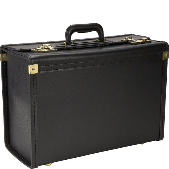 Attorney Law Black Vinyl Lockable Briefcase Professional Sophisticated Durable - Diamond Home USA