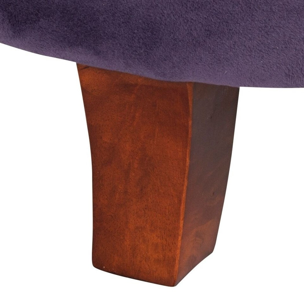 Round Storage Ottoman Rich Rich Tufted Ottoman Features Rich Hue Plenty Storage Space Stylish Round Footstool