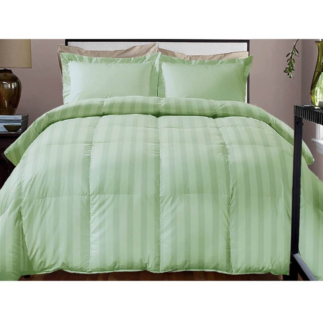 Baffle Bo Design Striped Comforter Adult Bedding Master Bedroom Stripes Luxurious Traditional Vertical