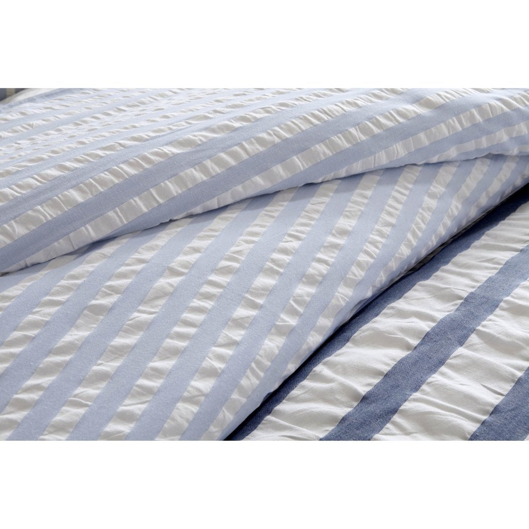 Rugby Stripes Pattern Duvet Cover Set Horizontal Sporty Lines Design Classic Casual Bedding Bright Super Soft Extra