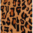 2'x3' Tan Brown Black Cheetah Dots Printed Runner Rug Indoor Graphical Pattern Living Room Rectangle Carpet Africa Themed Soft Wool Wild Animals - Diamond Home USA