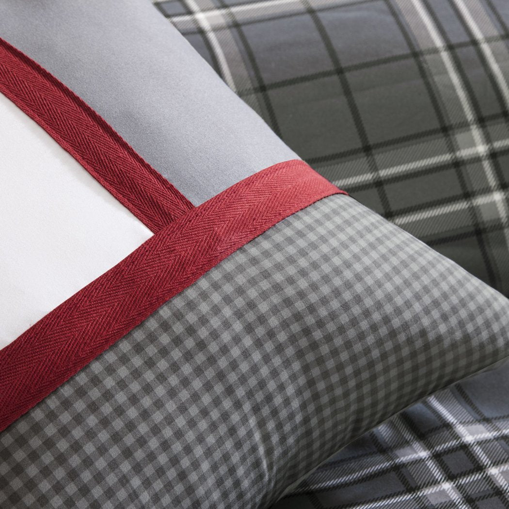 Plaid Comforter Set Lightweight Cabin Themed Bedding Checked Ljack Pattern Lodge Southwest Tartan Madras Cottage