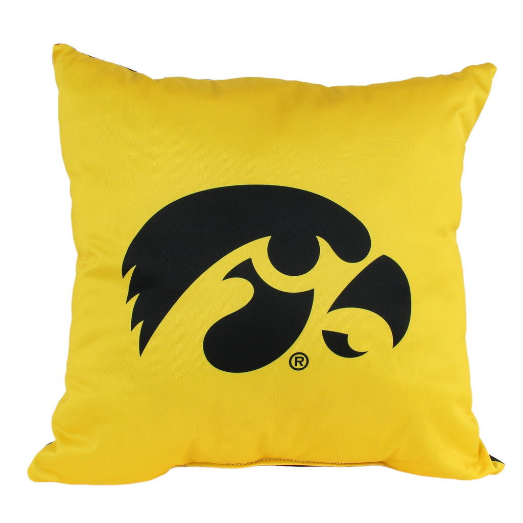 Iowa Hawkeyes 16 Inch Decorative Throw Pillow Multi Color Sports Traditional Polyester One Single Reversible - Diamond Home USA