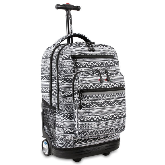 CH Black White Tribal Backpack Grey Chevron Pattern Laptop Bag Gray Aztec Zig Zag - Diamond Home USA