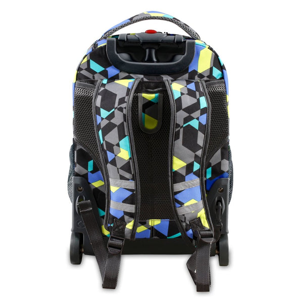 Kids Color Cubes Geometric Themed Rolling Backpack Textures Shape