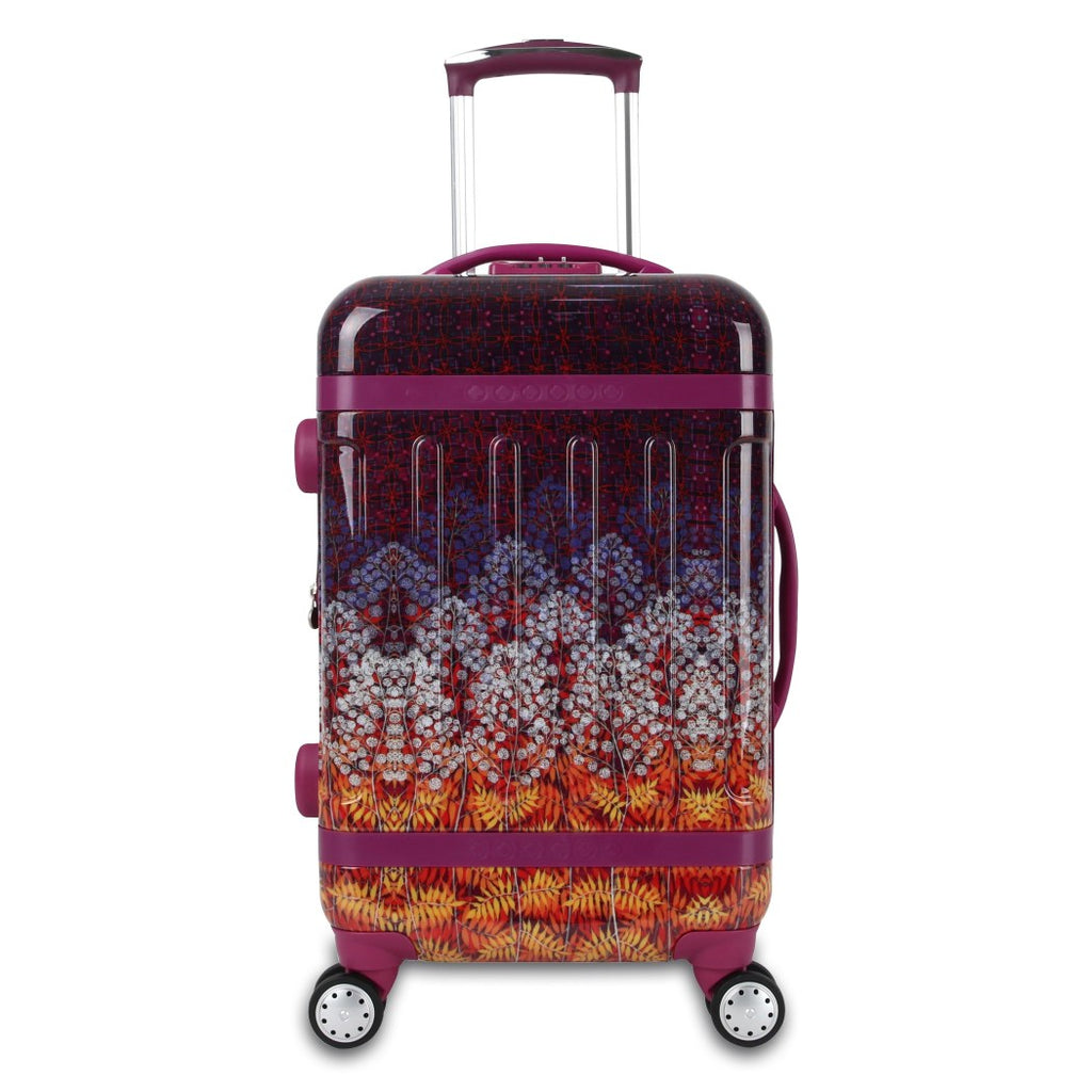 Color Flower Feild Theme Luggage Hardtop Hardside Roller Set Leaf Flower Themed Hard Top Side Carry Suitcase Upright Rolling Spinner Wheels Purple - Diamond Home USA