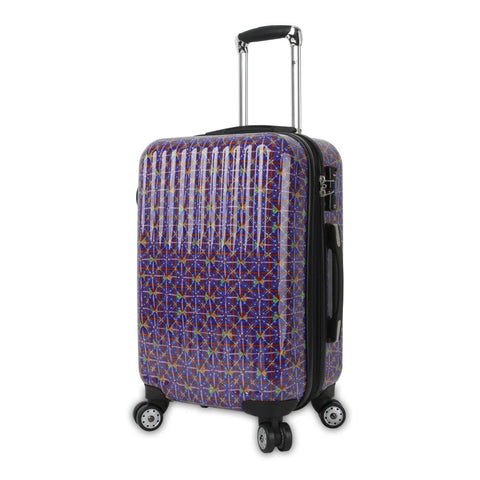 5d5d26bfaf Color Geometric Theme Luggage Hardtop Hardside Roller Set Abstract  Intricate Floral Design Pattern Themed Hard Top Side Carry Suitcase Upright