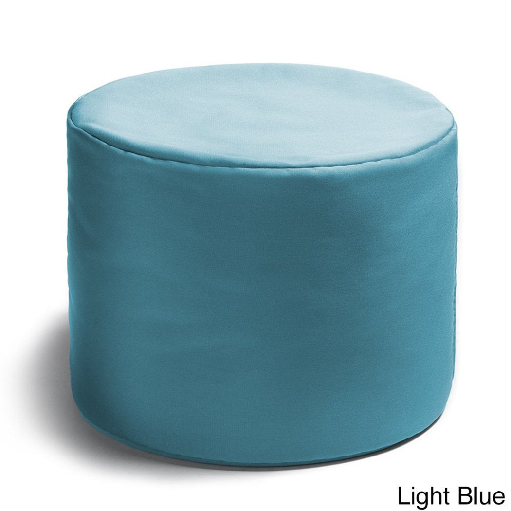 Round Shape Ottoman ABS Polyester Simple Pattern Traditional Type Assemble Stylish Endlessly Versatile Eco Friendly