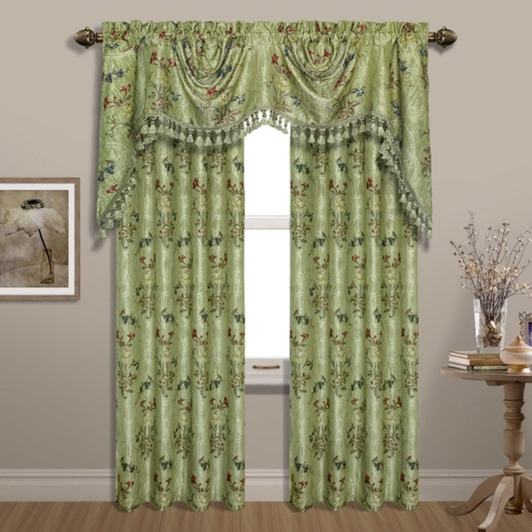 Girls Jewel Floral Window Curtain Single Panel Royal Flower Hippy Bohemian Window Treatment Garden Themed Luxury