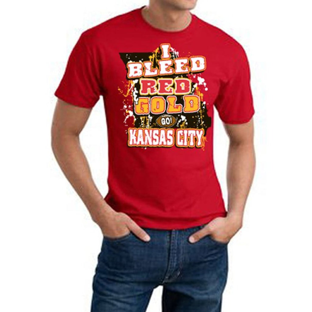 Mens NFL Chiefs T Shirt Extra Large Double Football Sports Tee Football Themed Clothing I Bleed Slogan Team Spirit