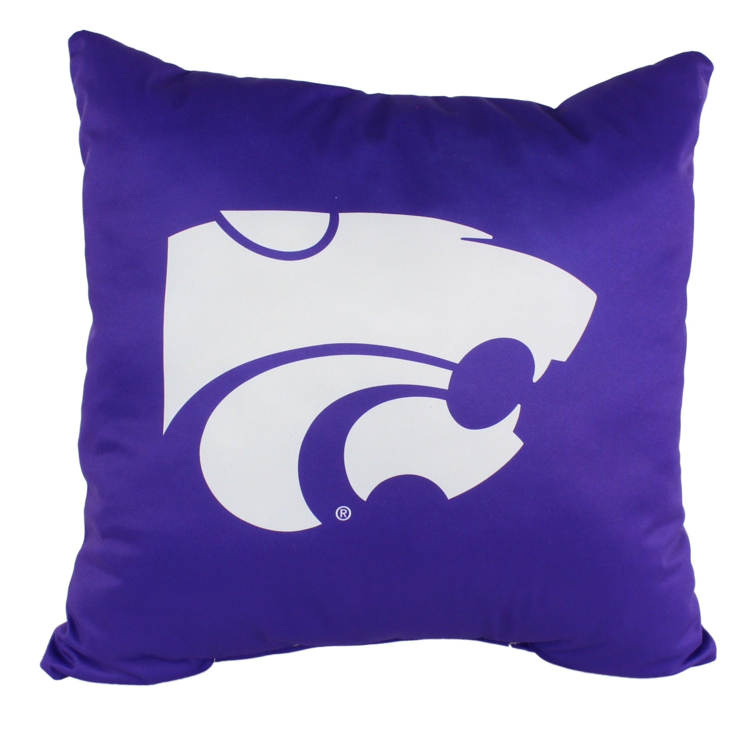 Kansas State Wildcats 16 Inch Decorative Throw Pillow Multi Color Sports Traditional Polyester One Single Reversible - Diamond Home USA