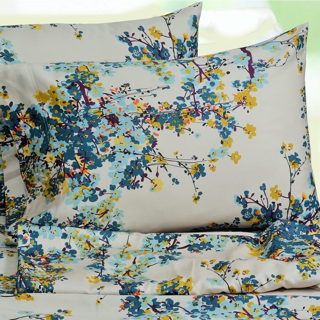 Girls Casablanca Floral Sheet Set Flowers Garden Themed Hippie Bohemian Printed Pocket Kids Bedding Bedroom Cute
