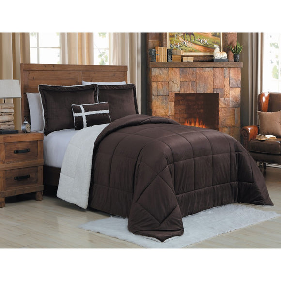 Bold Baffle Bo Design Comforter Set Adult Bedding Master Bedroom Modern Stylish Textured Pattern Classic Elegant