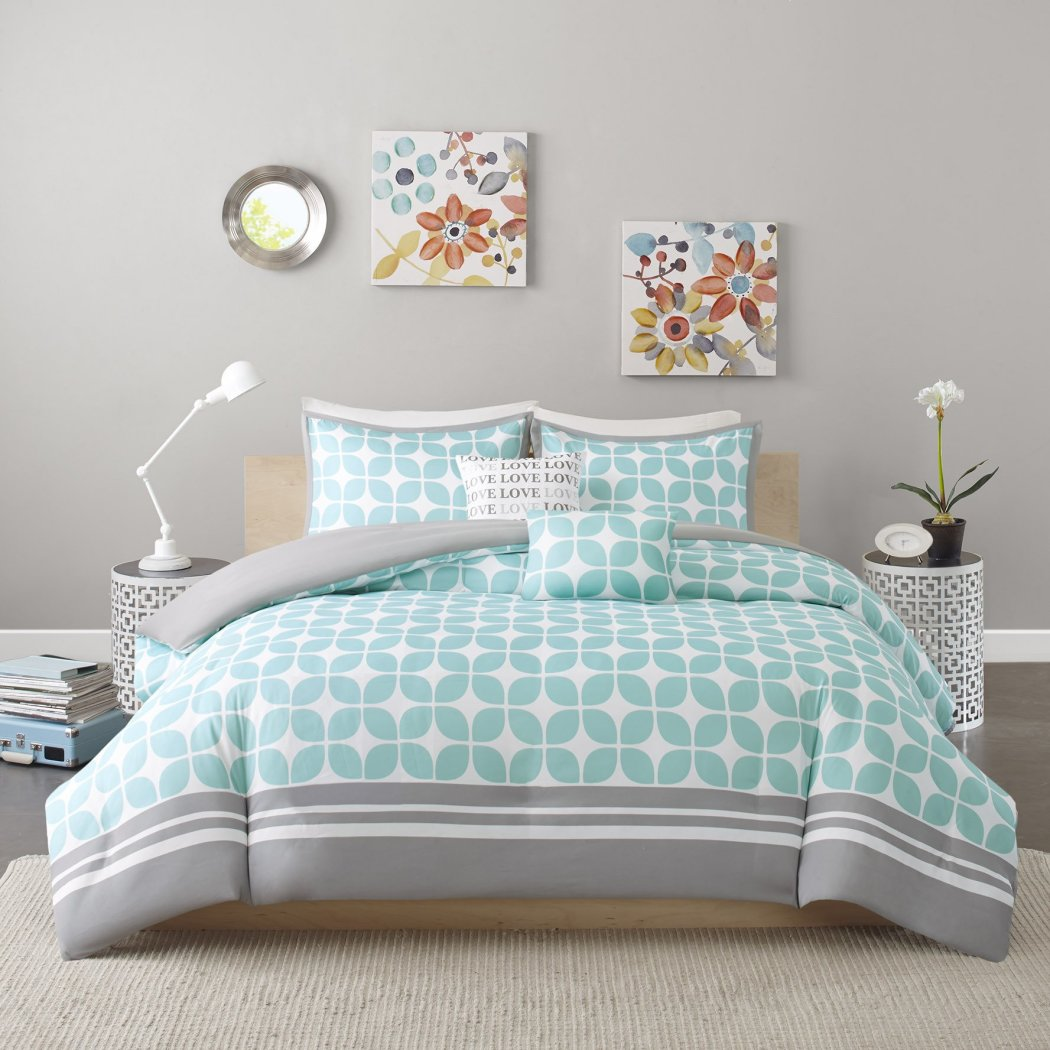 Lattice Duvet Cover Set Motif Adult Bedding Master Bedroom Stylish Geometric Pattern Fretwork Designs Elegant Themed