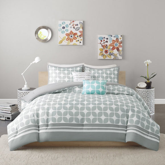 Bold Lattice Comforter Set Motif Adult Bedding Master Bedroom Stylish Geometric Pattern Fretwork Designs Elegant Themed