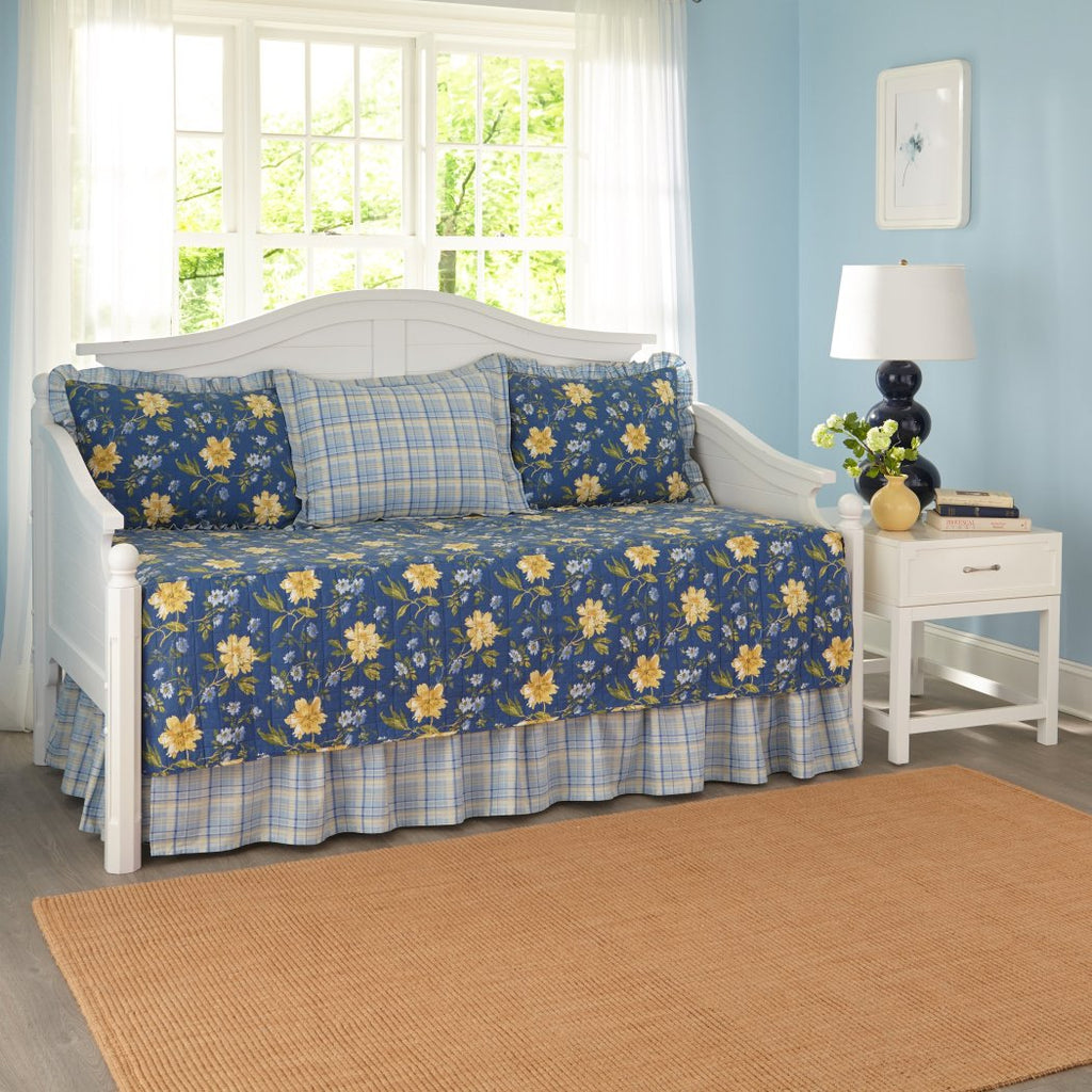Laura Ashley 5 Piece Emilie Daybed Cover Set - Diamond Home USA