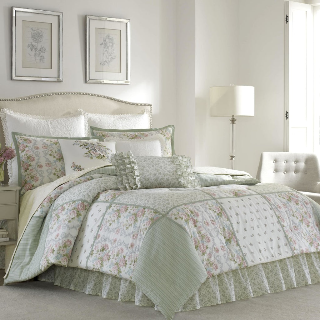 Patchwork Comforter Set Floral Bedding Flower Rugby Stripes Bed Bag Master Bedroom Squares Boho