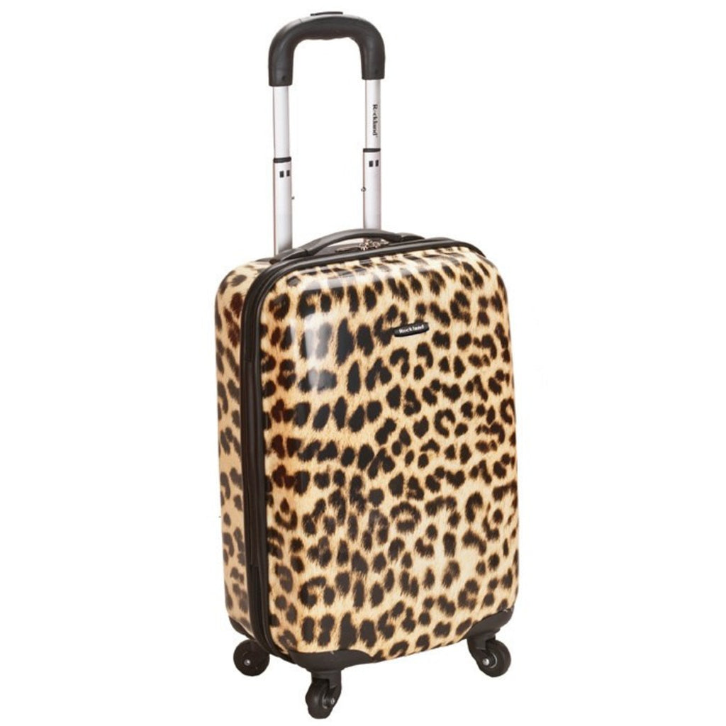 Girls Leopard Carry Suitcase Chic Cheetah Safari Animal Themed Luggage