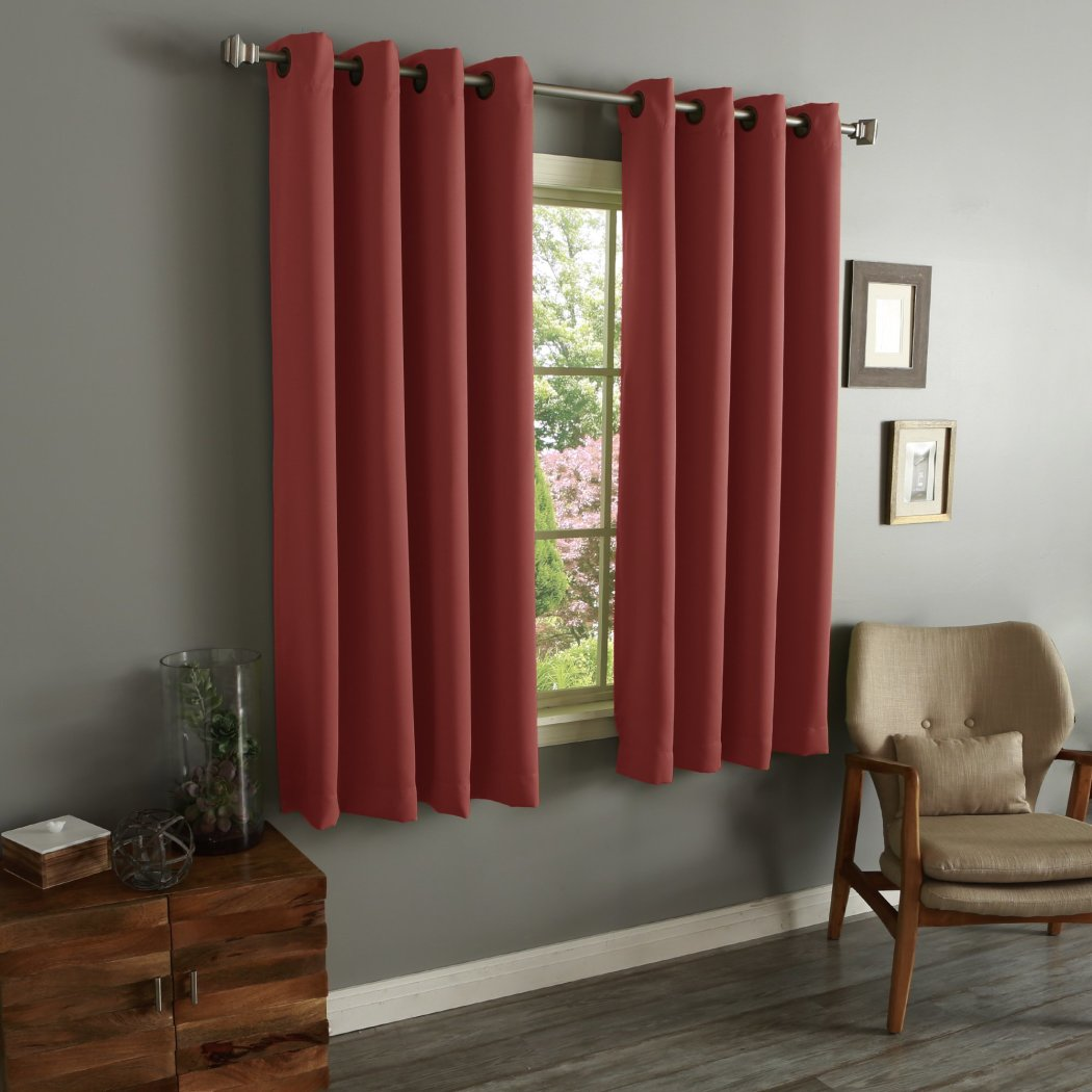 Girls Brick Blackout Curtain Panel Pair Window Drapes Kids Themed Insulated Thermal Grommet Playful Sophisticated