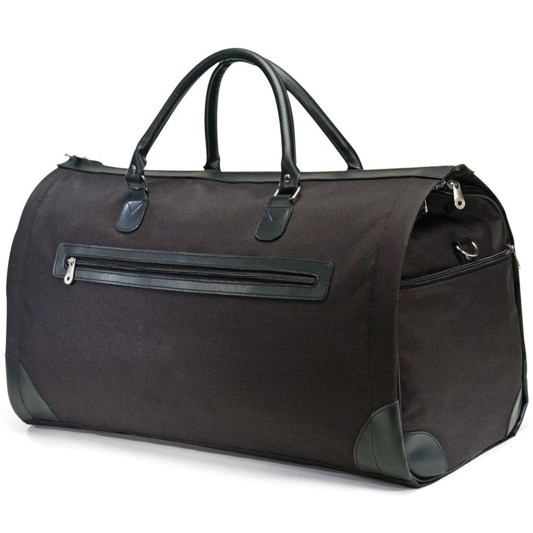 Black Lightweight Duffel Bag 21 inch Carry Foldable Solid Polyester - Diamond Home USA