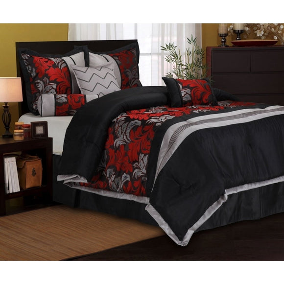 Comforter Set Fancy Luxury Bedding French Country Modern Pattern Master Bedrooms Flower Embroidery Black