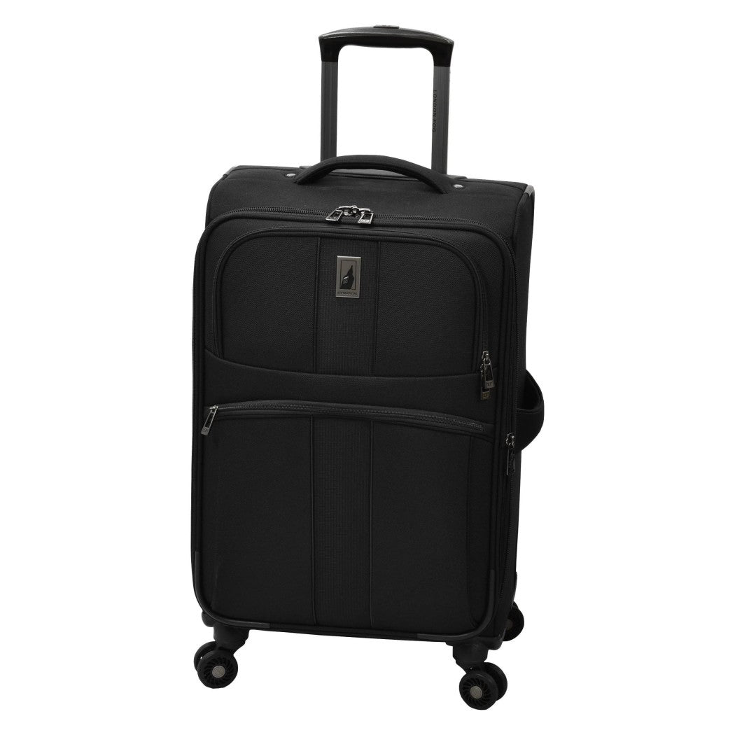 Black Large Spinner Carry Suitcase Business Office Travel Bag Modern Stylish - Diamond Home USA