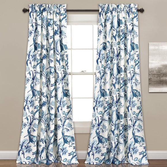 Girls Floral Curtain Panel Pair Window Drapes Kids Themed Animal Energy Efficient Room Ening Rod Pocket Playful