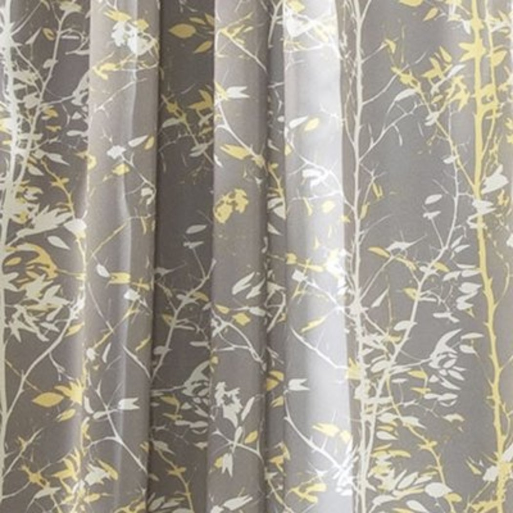 Girls Floral Leaves Window Curtain Pair Panel Set Printed Nature Branch Window Treatment Garden Themed